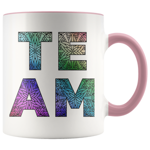 Team Watercolors Diversity Accent Coffee Cup Pink