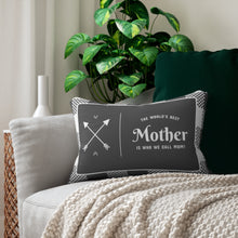 Load image into Gallery viewer, The World's Best Mother Decorative Accent Lumbar Pillow with Insert in Polyester