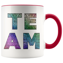Load image into Gallery viewer, Team Watercolors Diversity Accent Coffee Cup Red