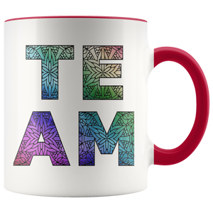 Team Watercolors Diversity Accent Coffee Cup Red