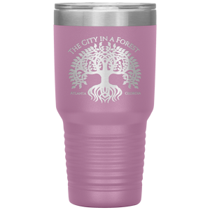 Atlanta City in a Forest Tumbler Light Pink