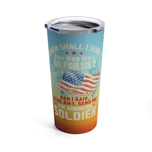 American Soldier Vacuum-Insulated Stainless-Steel Tumbler Front