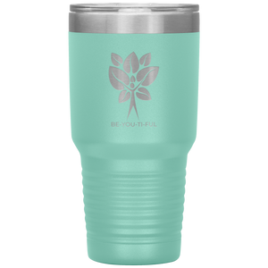 Be-You-Ti-Ful Tree Stainless Steel Tumbler Teal