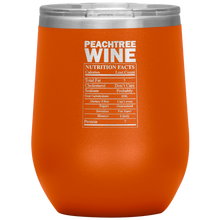 Load image into Gallery viewer, Peachtree Wine Facts Tumbler Orange