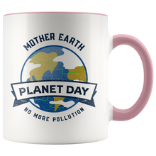 Load image into Gallery viewer, Mother Earth Planet Day Accent Ceramic Coffee Cup Pink