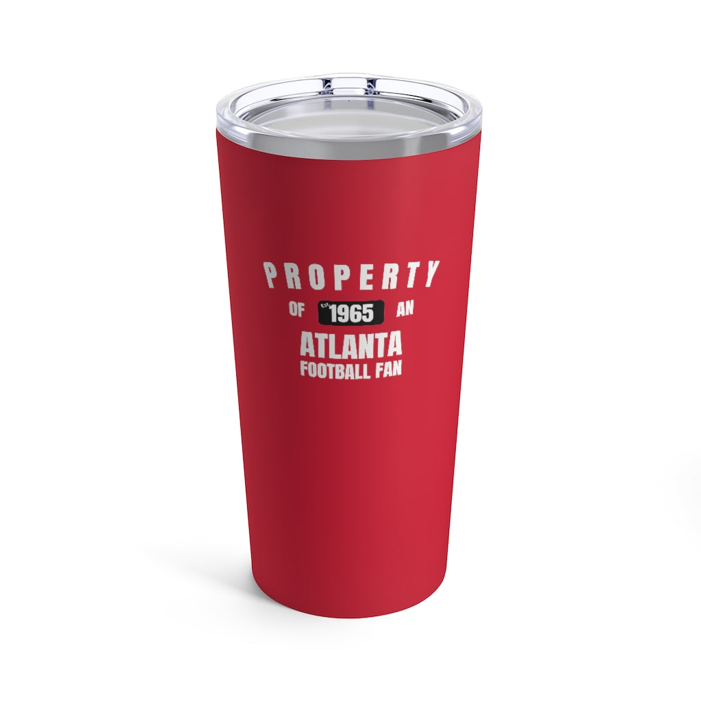 Atlanta Football Fan Stainless Steel Tumbler Front