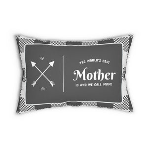The World's Best Mother Decorative Accent Lumbar Pillow with Insert in Polyester