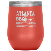 Load image into Gallery viewer, Atlanta BBQ Timer Wine Tumbler Coral