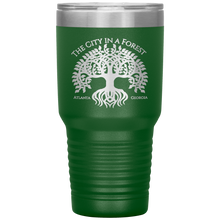Load image into Gallery viewer, Atlanta City in a Forest Tumbler Green