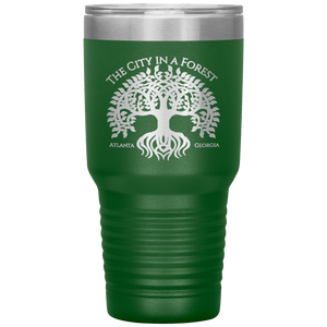 Atlanta City in a Forest Tumbler Green
