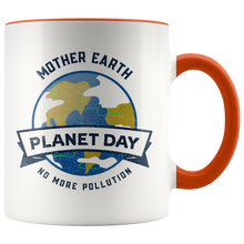 Load image into Gallery viewer, Mother Earth Planet Day Accent Ceramic Coffee Cup Orange