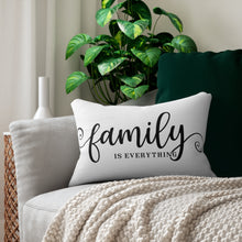 Load image into Gallery viewer, Family is Everything Decorative Accent Lumbar Pillow Display