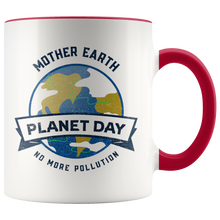 Load image into Gallery viewer, Mother Earth Planet Day Accent Ceramic Coffee Cup Red