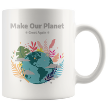 Load image into Gallery viewer, Make Our Planet Great Again Accent Coffee Cup White