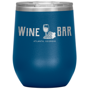 Wine Bar Atlanta Tumbler Blue