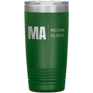 Midtown Atlanta Tumbler Green