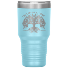 Load image into Gallery viewer, Atlanta City in a Forest Tumbler Light Blue