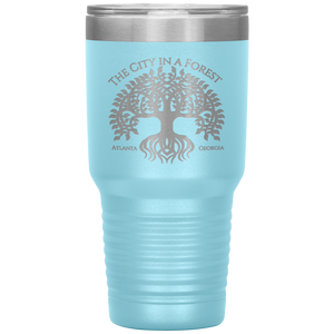 Atlanta City in a Forest Tumbler Light Blue