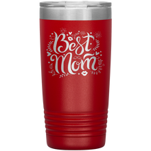 Load image into Gallery viewer, Best Mom Red Engraved Stainless Steel Tumbler