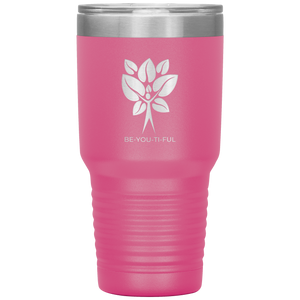 Be-You-Ti-Ful Tree Stainless Steel Tumbler Pink