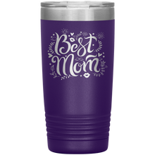 Load image into Gallery viewer, Best Mom Purple Engraved Stainless Steel Tumbler