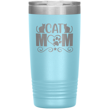 Load image into Gallery viewer, Cat Mom Stainless-Steel Tumbler Light Blue