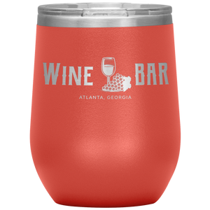 Wine Bar Atlanta Tumbler Coral