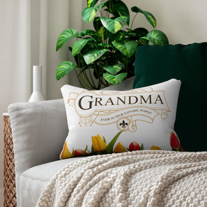 The Very Best Grandma Decorative Accent Lumbar Pillow Display