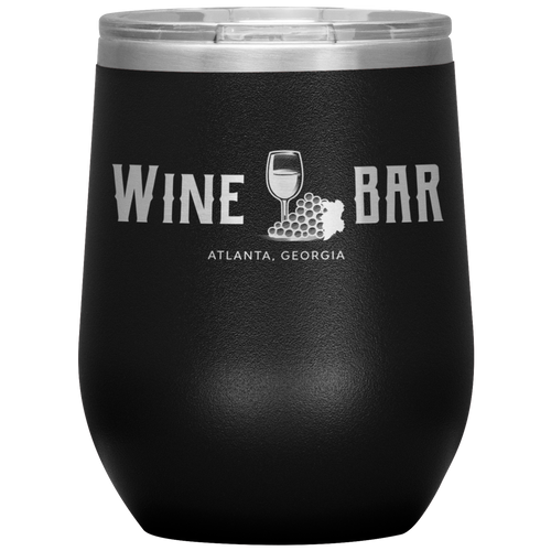 Wine Bar Atlanta Tumbler Black