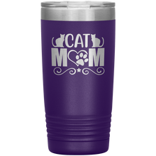 Load image into Gallery viewer, Cat Mom Stainless-Steel Tumbler Purple
