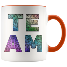 Load image into Gallery viewer, Team Watercolors Diversity Accent Coffee Cup Orange