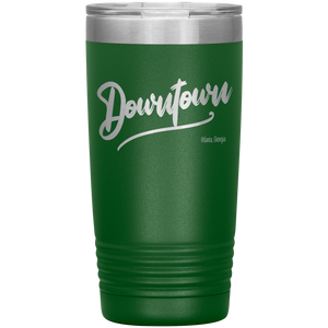 Downtown Atlanta Georgia Tumbler Green