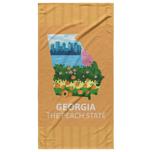 New Georgia Beach Towel Absorbent Plush Cotton Polyester 360GSM 30 x 60 Inches