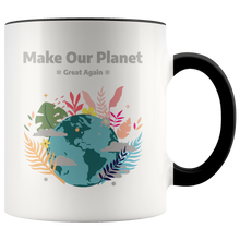 Load image into Gallery viewer, Make Our Planet Great Again Accent Coffee Cup Black