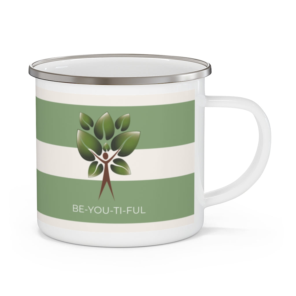 Be-You-Ti-Ful Tree Metal Coffee Cup Front