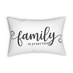 Family is Everything Decorative Accent Lumbar Pillow