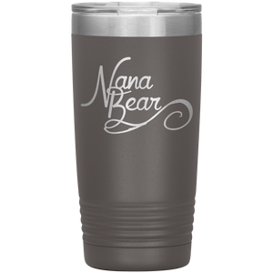 Nana Bear Stainless-Steel Tumbler Pewter