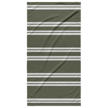 Load image into Gallery viewer, Olive Striped Beach Towel