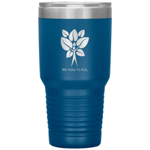 Load image into Gallery viewer, Be-You-Ti-Ful Tree Stainless Steel Tumbler Blue