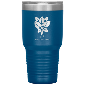 Be-You-Ti-Ful Tree Stainless Steel Tumbler Blue