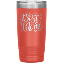 Load image into Gallery viewer, Best Mom Coral Engraved Stainless Steel Tumbler