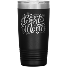Load image into Gallery viewer, Best Mom Black Engraved Stainless Steel Tumbler