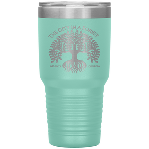 Atlanta City in a Forest Tumbler Teal