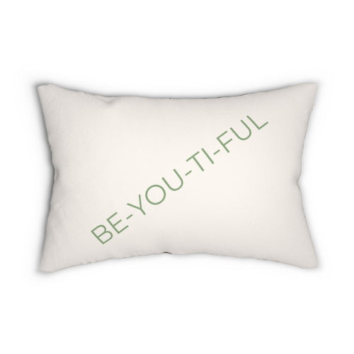 Be-You-Ti-Ful Decorative Accent Pillow Beige Side