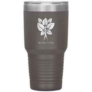 Be-You-Ti-Ful Tree Stainless Steel Tumbler Pewter