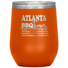 Load image into Gallery viewer, Atlanta BBQ Timer Wine Tumbler Orange