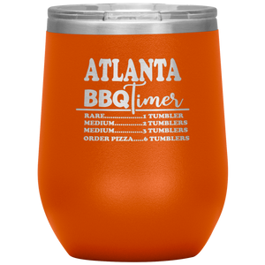 Atlanta BBQ Timer Wine Tumbler Orange