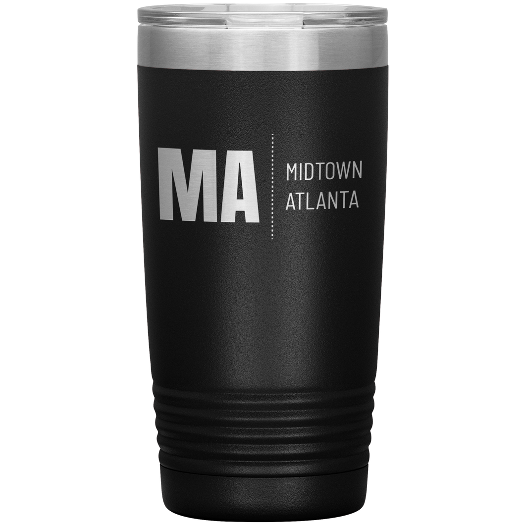 Midtown Atlanta Tumbler Black