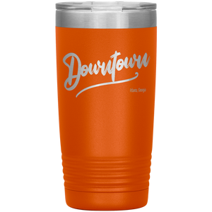 Downtown Atlanta Georgia Tumbler Orange