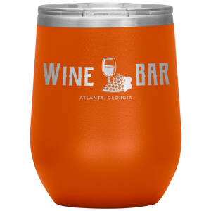 Wine Bar Atlanta Tumbler Orange